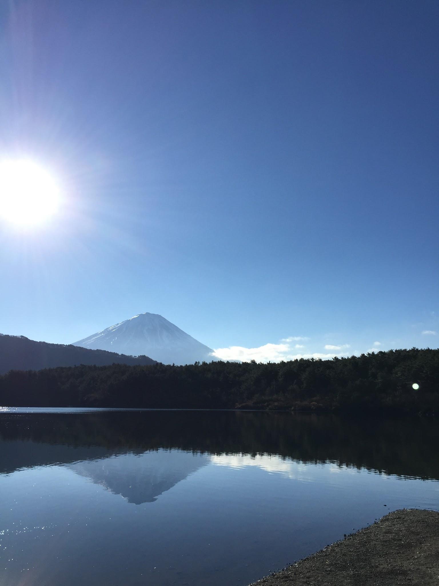 西湖の逆さ富士