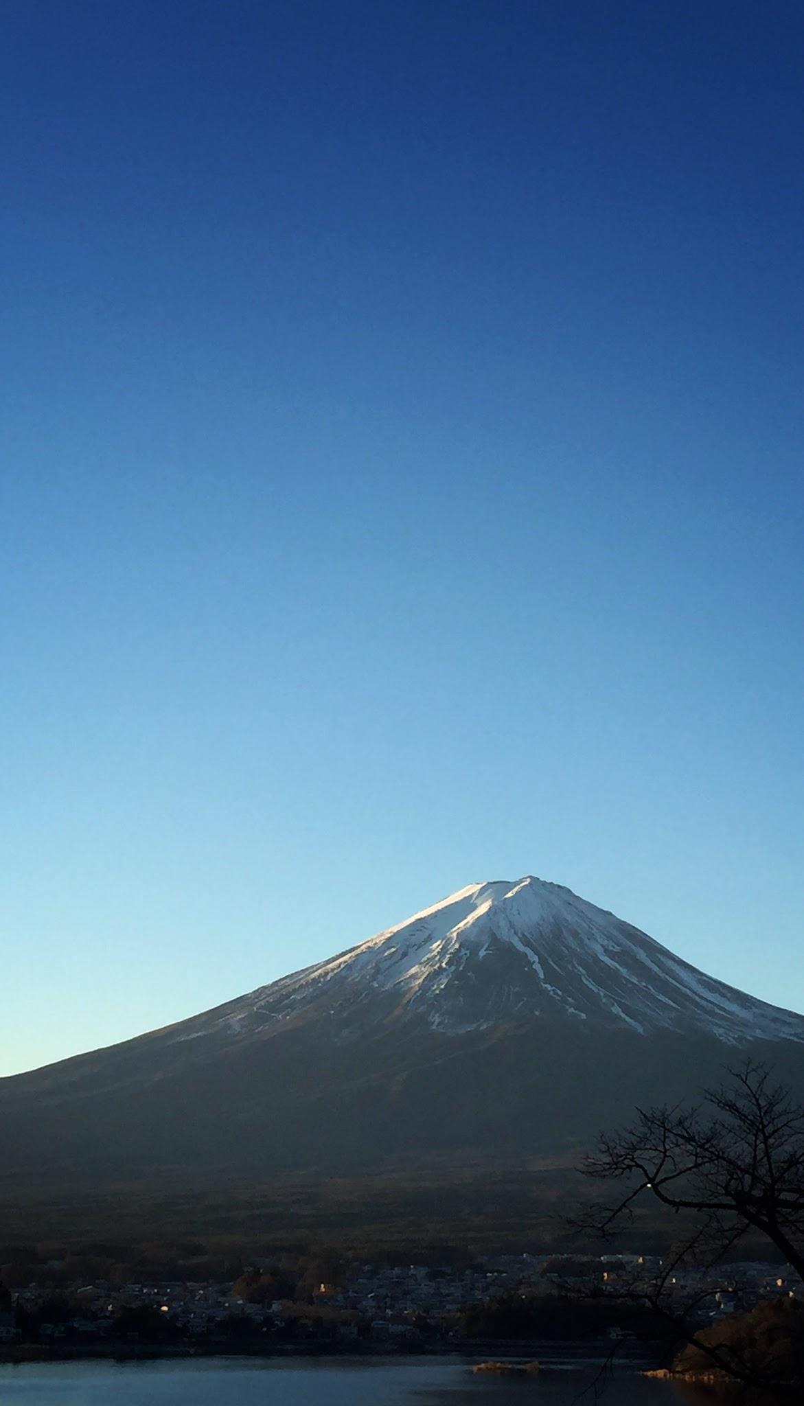 星のや富士から見た富士山